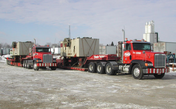 Two O/D loads at our yard ready to roll.