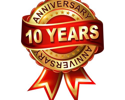 10 years anniversary with ready machinery